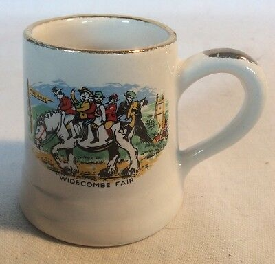 "Collectable Small Vintage Decorative ""Widecombe Fair"" Tankard"
