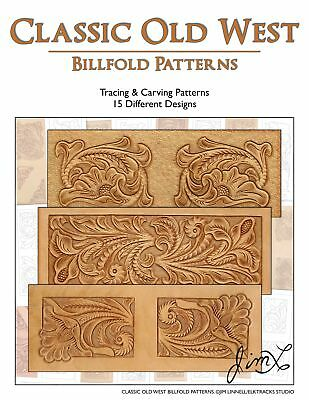 Classic Old West - 15 Tracing & Carving Leather Billfold Patterns by Jim Linnell