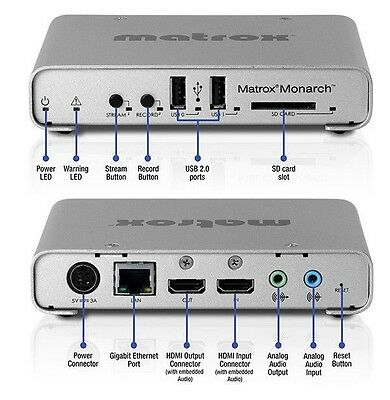 Matrox Monarch HD Webvideo Streaming & Recording Appliance RENTAL Weekly 149.00