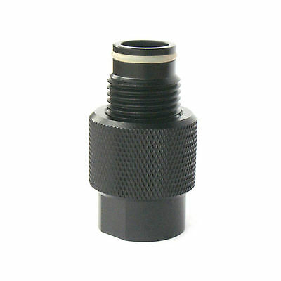 New Paintball Upgrades Air Adapter Inline On/Off Valve - Black