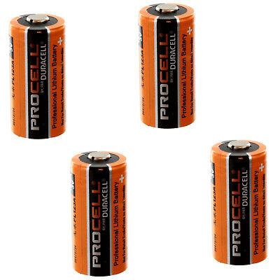 4x Duracell PROCELL DL123, CR123 3V Lithium Battery MADE IN USA FAST USA SHIP