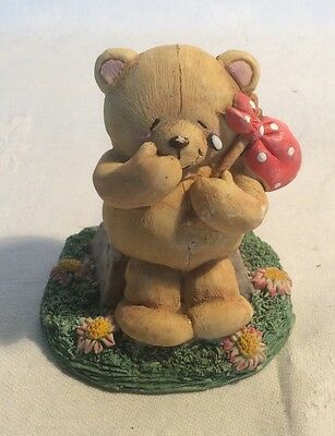 """Lovely Vintage Forever Friends """"Going Nowhere"""" Bear Figure By Andrew Brownsword"""