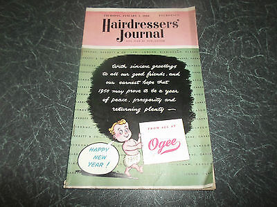 Vintage Retro ~ Hairdressers Journal 5th January 1950 + Illustrated+Advertising