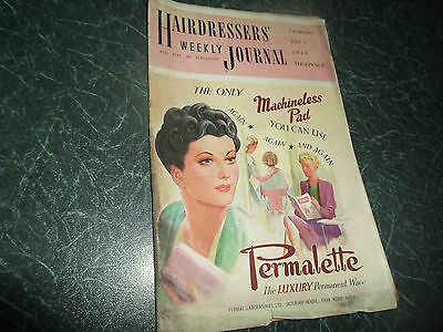 Vintage Retro ~ Hairdressers Journal 1st July 1948 + Illustrated + Advertising