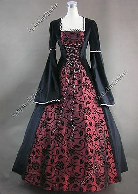 Renaissance Medieval Game of Thrones Queen Dress Gown Reenactment Clothing N 129