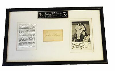 Mlb Jackie Robinson Hand Signed Autographed Letter & Mat Framed With Coa 11X18