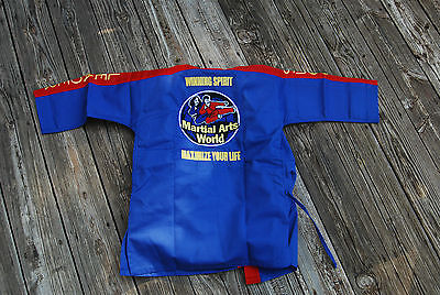NEW Karate Martial Arts World Outfit Costume CHILD SIZE 0/140 RED & BLUE