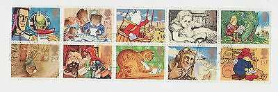 1994 Great Britain Sc #1547a Θ used mute cancel, Children's storybook characters