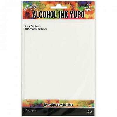 """Tim Holtz Alcohol Ink White Yupo Paper 10 Sheets-5""""X7"""""""