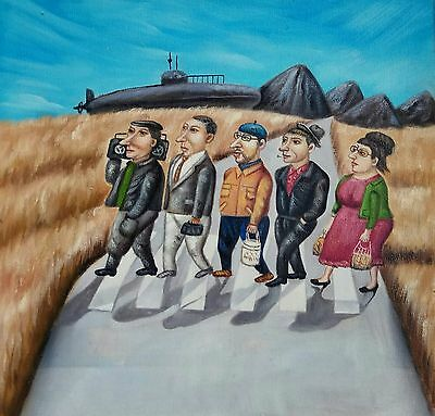 THE BEATLES Öl Leinwand Ölgemälde Gemälde oil on canvas painting