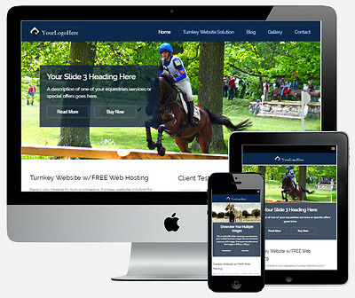 Pro Equestrian Website for Stables Horse Shows Riding Club Associations Supplies