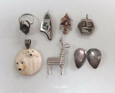 Dealer's Lot of 7 Sterling Silver Miscellaneous Items ~ 39.7 grams~ 17-C8782