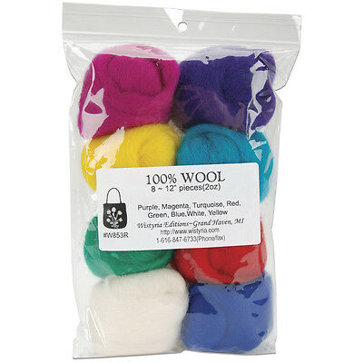 Confetti 8-Pack Wistyria Editions WR-906R Wool Roving