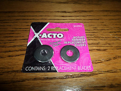 X-Acto Rotary Trimmer Replacement Blades TWO 2 New 26203 Cutting Tool