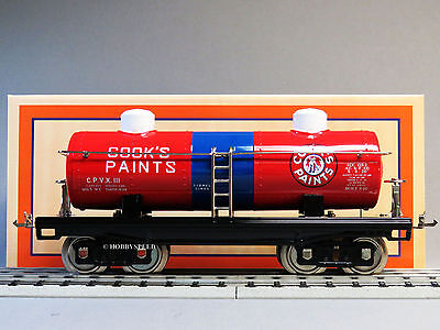 Mth Lionel Corp Tinplate Standard Gauge Cook's Paints 2 Dome Oil Car 11-30207