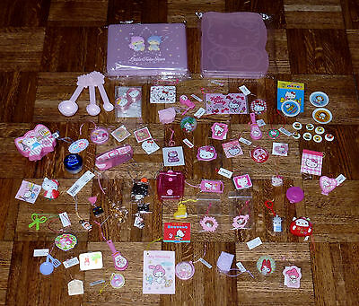 Big Lot Vintage & New Sanrio Premium Trinkets Some 1976 Over 50 Pieces + Cases