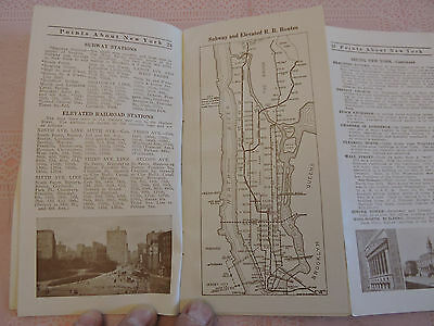RARE 1911 BROOKLYN New York City NYC TRANSIT SUBWAY 32x32 map HOTEL SEVILLE !