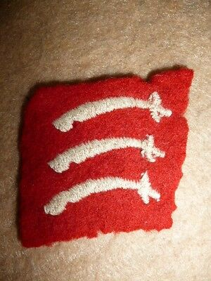 Essex County Division 1st Type Formation Patch 1941 / WW2 - UK - Scarce