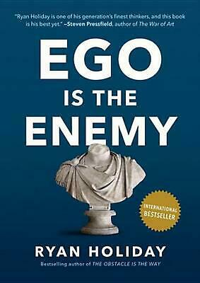 Ego Is the Enemy by Ryan Holiday (English) Hardcover Book Free Shipping!