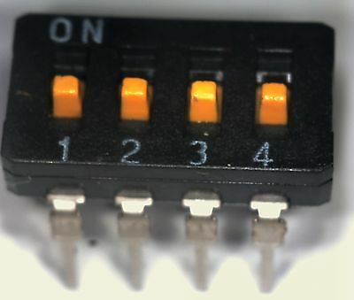 pack of 10 Omron  A6D-4 4 way DIP switch