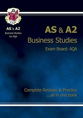 AS/A2 Level Business Studies AQA Complete Revision & P... by CGP Books Paperback