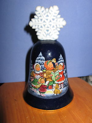 1987 Porcelain Avon Christmas Bell Made In Japan