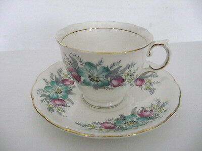 Vintage Colclough Genuine Bone China Teacup & Saucer Set Made In England