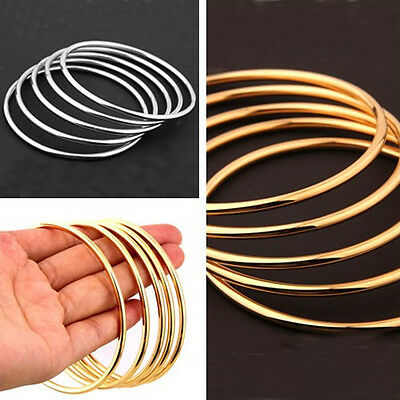 Fashion Heavy Silver/Gold 316L Stainless Steel Solid Womens Bangle Bracelet New