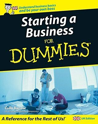 Starting a Business For Dummies, Colin Barrow Paperback Book The Cheap Fast Free