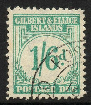 Gilbert & Ellice Is. Sgd8 1940 1/6 Postage Due Used