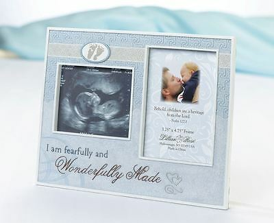 Wonderfully Made Ultrasound Picture Photo Frame Baby Showers Christening Gifts