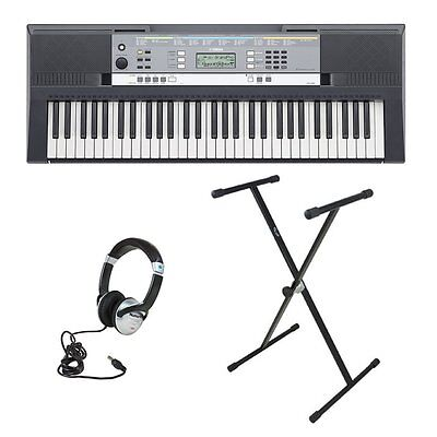 Yamaha YPT240 Portable Keyboard with Headphones and X-Frame Keyboard Stand