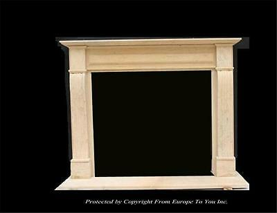 Hand Carved Marble Estate Custom Fireplace Mantel - Jd52
