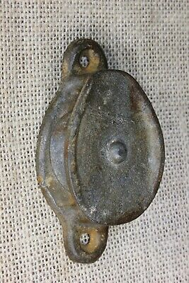 "side pulley 1 1/2"" Iron wheel vintage rustic old barn galvanized exterior use"