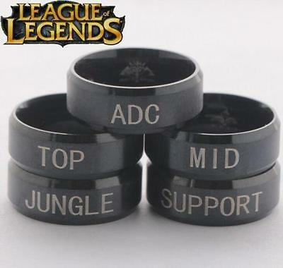 League Of Legends LOL Game Role Stainless Steel Ring Band Titanium ^