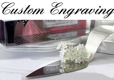 Photo / message engraved & personalised wedding cake server trowel / gift (wk1)