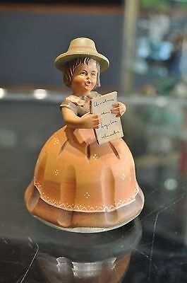 Reuge Wood Carved Music Box Girl Singing Plays Hi LiLi - Hi Lo Swiss Nice!!