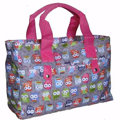 Knitting Bag/ Beach Bag/Handbag,wool owls tote crochet hand holdall pink gym owl