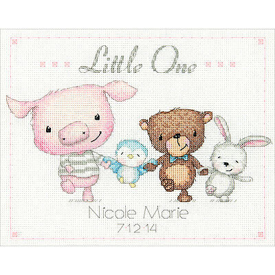 """""""Little One Birth Record Counted Cross Stitch Kit-10""""""""X8"""""""" 14 Count"""""""