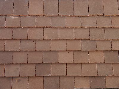 50 Real Brick Conker Dolls House Roof Tiles