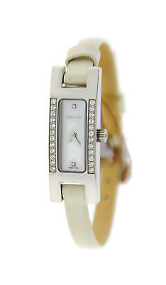 cdd6c84080b GUCCI MOTHER OF Pearl Dial Diamond Stainless Steel Watch YA039504 ...