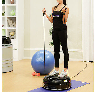 New Vibra Fit Exercise Machine With Resistance Bands -Black - $579