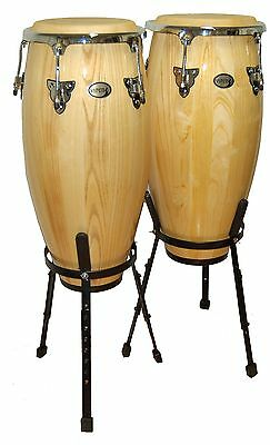 New Viper Cc-1000 Congas Drum Set And Stands - Great Gift Idea!