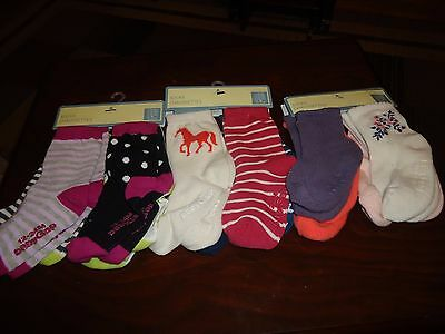 4 Pairs Baby Gap Infant Toddler Girl Socks Sz 0-6m 6-12m 12-24m 2-3yrs 4-5yrs