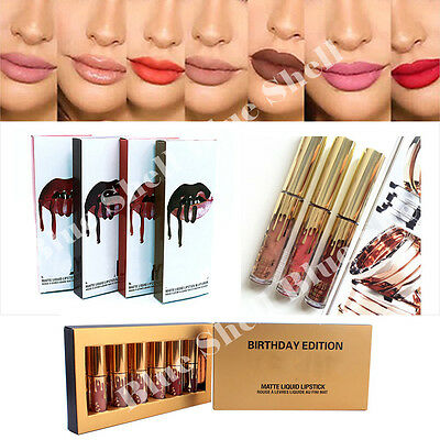 Long Lasting Lipstick Waterproof Matte Liquid Lip Gloss Lip Liner Cosmetics Kits