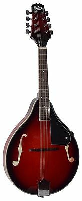 "NEW MADERA M-200 ""A"" STYLE MANDOLIN REDBURST PACKAGE w/ FREE GIG BAG"