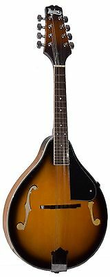 "New Madera M-200 Tobacco Sunburst ""a"" Style Mandolin Package With Free Gig Bag"