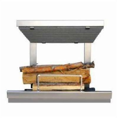 Earths Flame Hybrid Clean Burn Wood Fireplace System Including Natural Gas Lo...