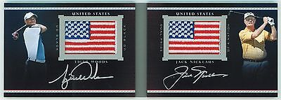 2013 2014 Exquisite TIGER WOODS / JACK NICKLAUS PRIDE NATION AUTO BOOKLET #/10