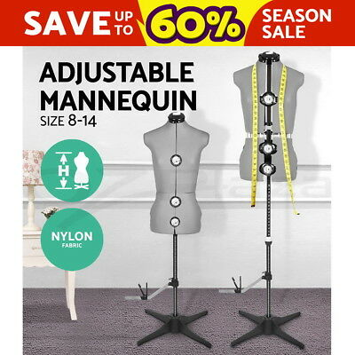 Adjustable Female Mannequin Model Dressmaker Display Tailor Size 8-14